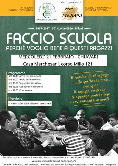 A Casa Marchesani si ricorda don Lorenzo Milani