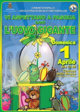 Rapallo, arriva l'uovo di Pasqua gigante