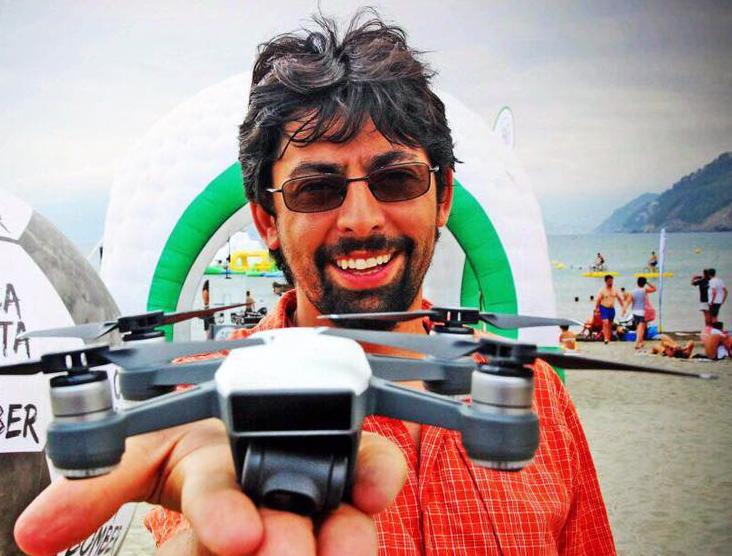 """Mauro Migliazzi: """"Così ho portato i droni a Chiavari"""""""