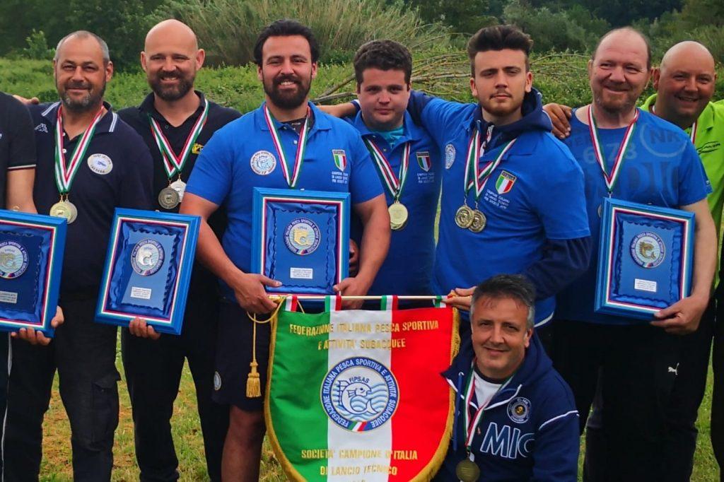 Pesca, FiMa Chiavari campione d'Italia nel Lancio Tecnico